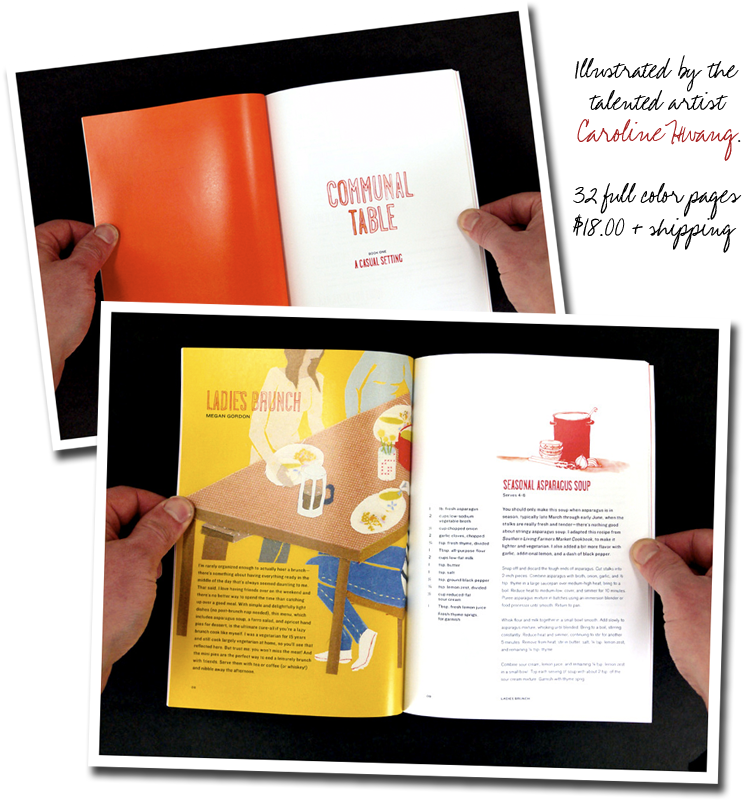 Communal Table Cookbook - Illustrator Caroline Hwang