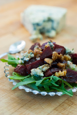 Roasted Beet Salad with Walnuts and Gorgonzola