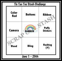 June Tic Tac Toe Stash Challenge