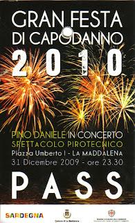 Pass Pino Daniele capodanno 2010