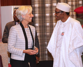 Christine Lagarde and President Buhari