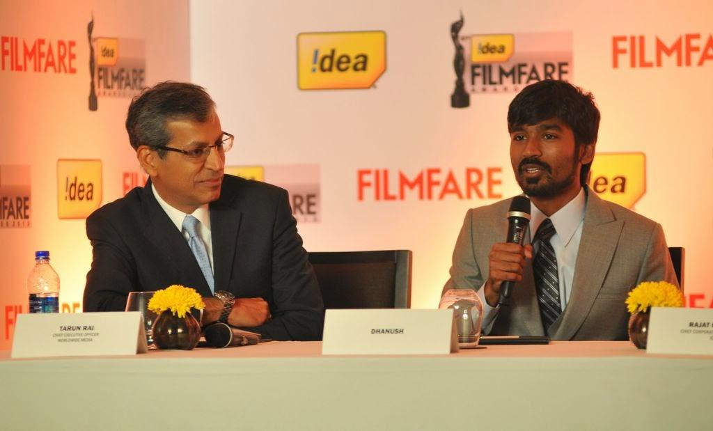 Dhanush at Idea film fare awards-HQ-Photo-9