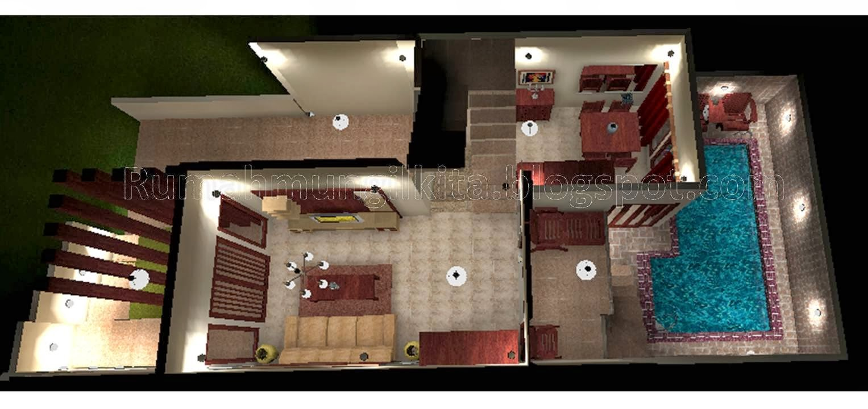 desain rumah minimalis 2 lantai ada kolam renang model