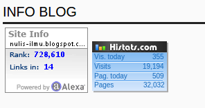 memasang statistik blog