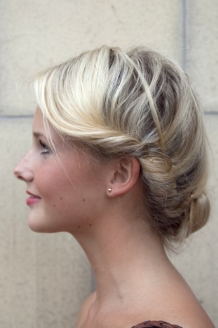 Perfect  Sleek Twisty Central ChignonBun Updo Back View  Hairstyles Weekly