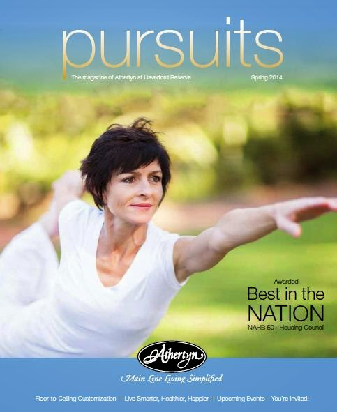 Athertyn Pursuits Magazine Spring 2014 - Awarded Best in the NATION NAHB 50+ Housing Council