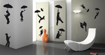 Farkli+tasarim+duvar+sticker+modeli Evinize Duvar Sticker Modelleriyle Renk Katın