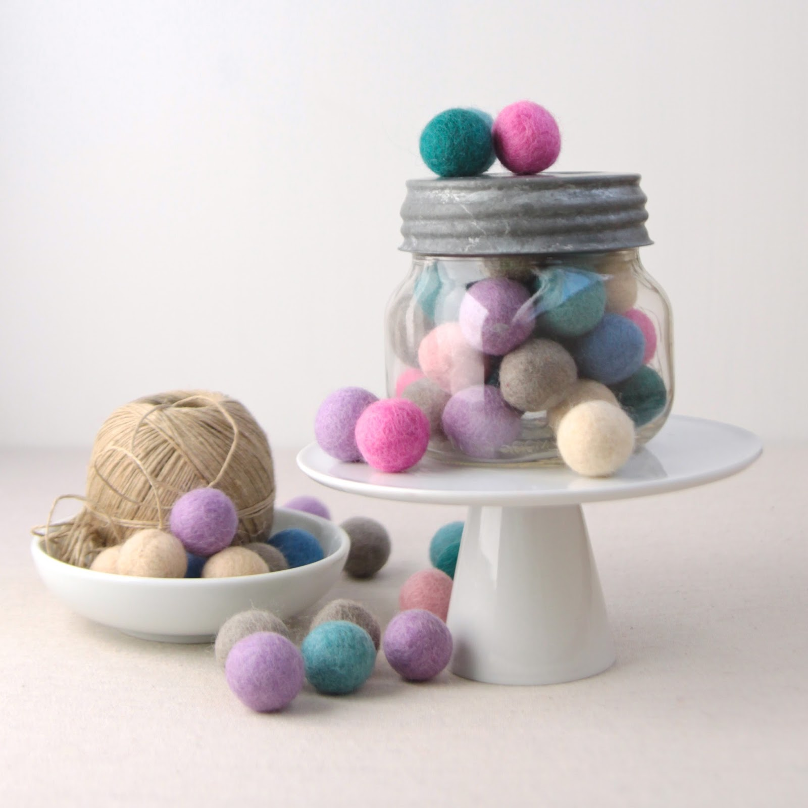 Felt Pom Pom, Balls, Beads for Garlands
