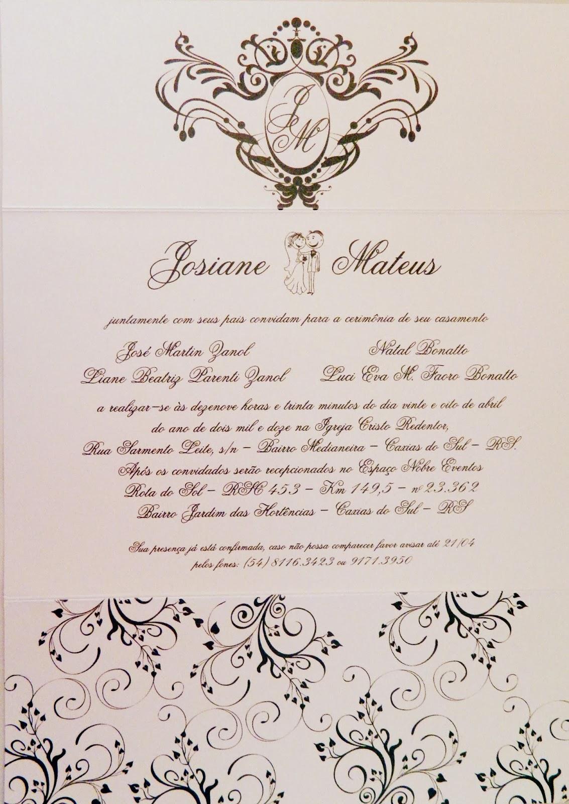 Papel Com Arte Convite De Casamento Como Dispor Os Nomes Quem Vem