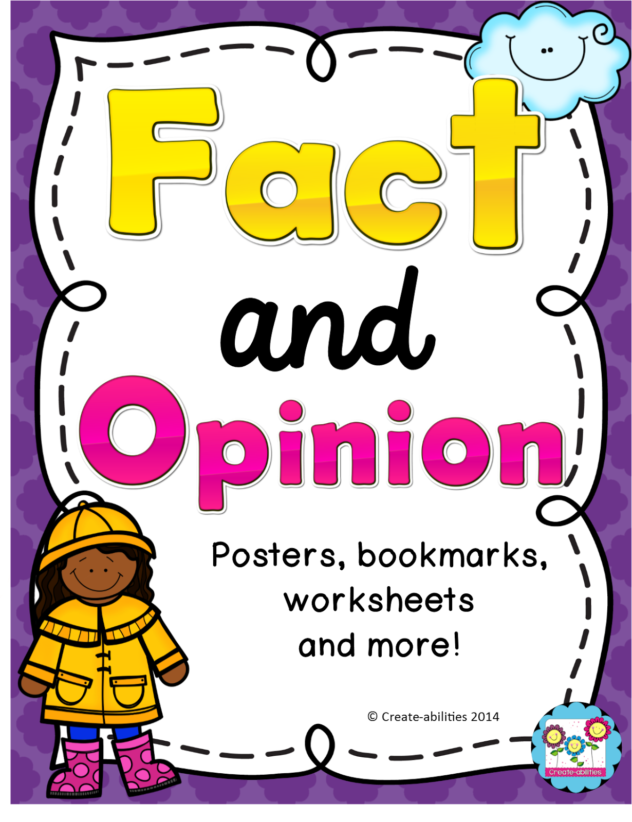 http://www.teacherspayteachers.com/Product/Fact-and-Opinion-Printables-Bookmarks-Graphic-Organizers-and-More-CCSS-1157656