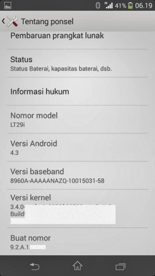 Android 4.3 leaked for Sony Xperia TX but still needs confirmation