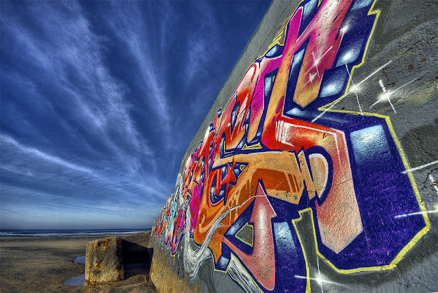 hdr plage, blockhaus soulac, graffitis bordeaux, blocos plage grayan, photo plage hdr, photo plage du gurp, blockhaus tag, graffitis hdr, vestige blockhaus, blocos allemand, photo blocos, photo fabien monteil