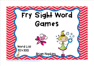 https://www.teacherspayteachers.com/Product/Fry-Sight-Word-Board-Games-No-Prep-300-Word-List-1708541