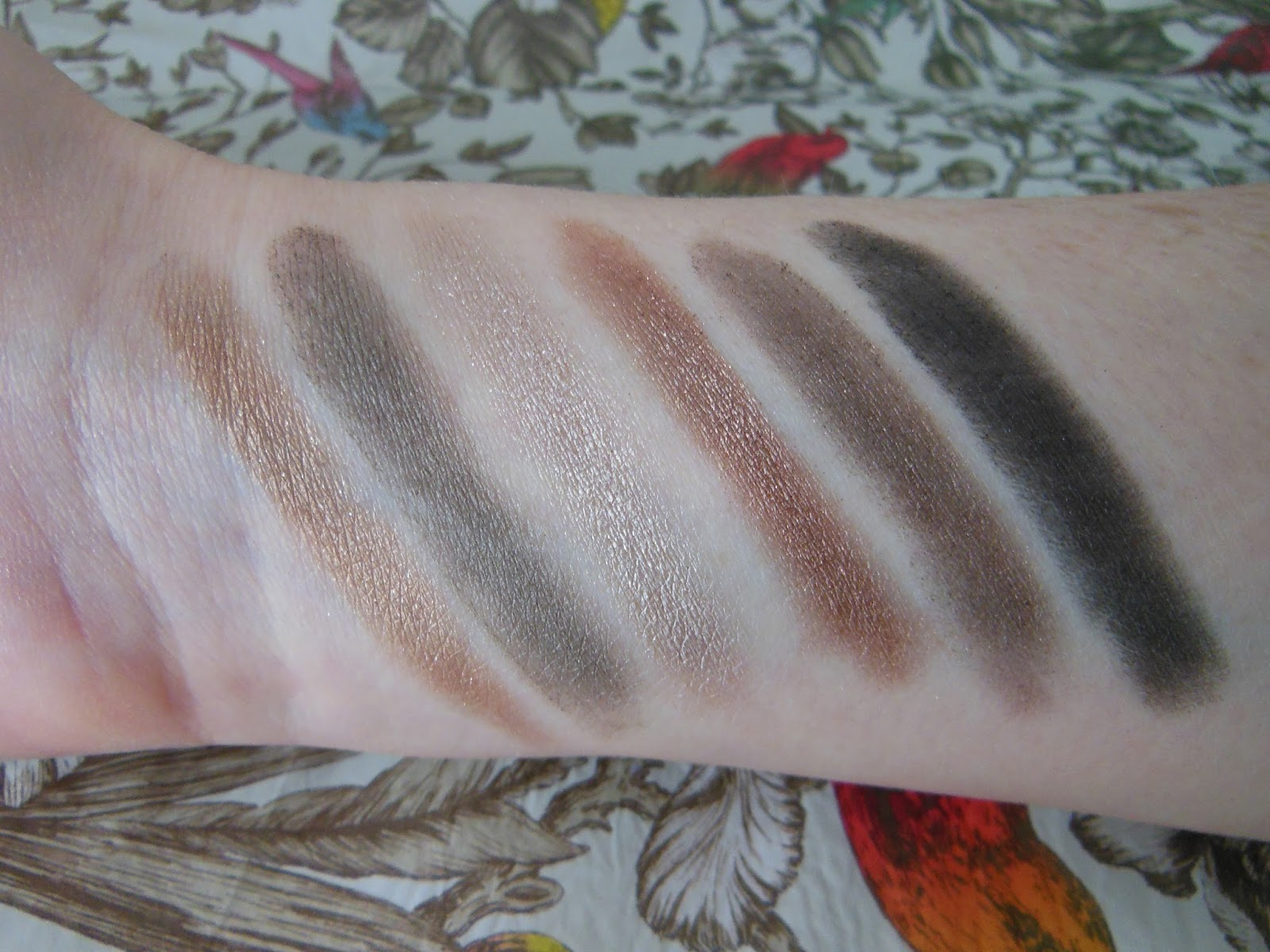 W7 in the buff eye shadow palette swatches