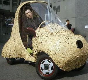 Smart Wooden bamboo car made in Japan | Modern bamboo car