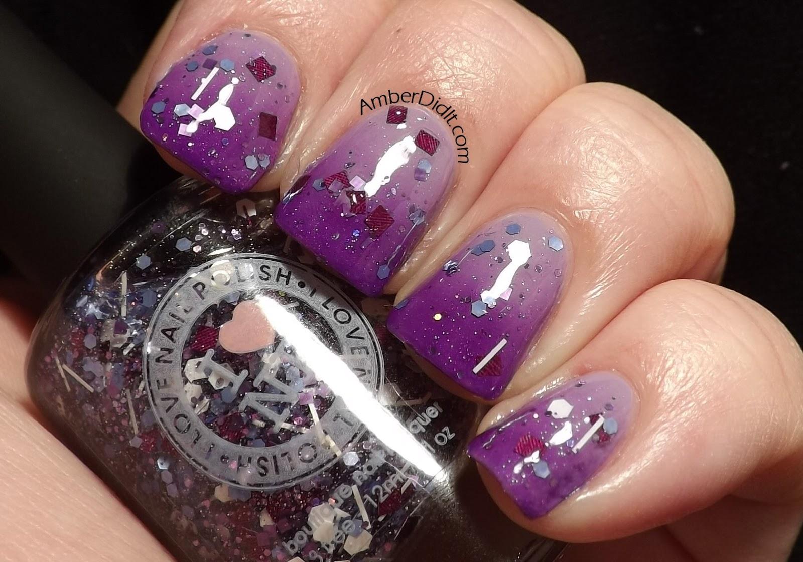 Amber did it!: I Love Nail Polish Purple Stuff~Swatches