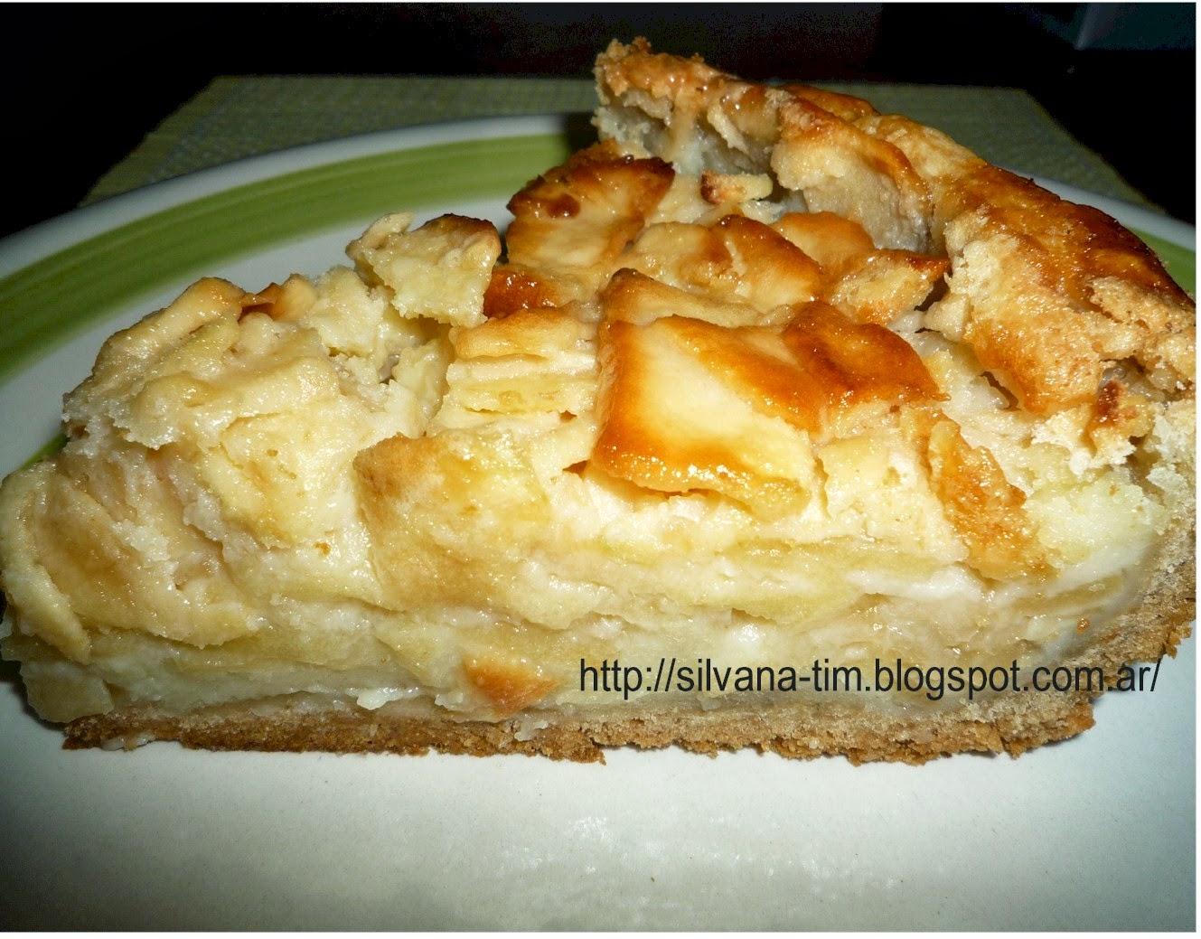 tarta milhojas de manzanas