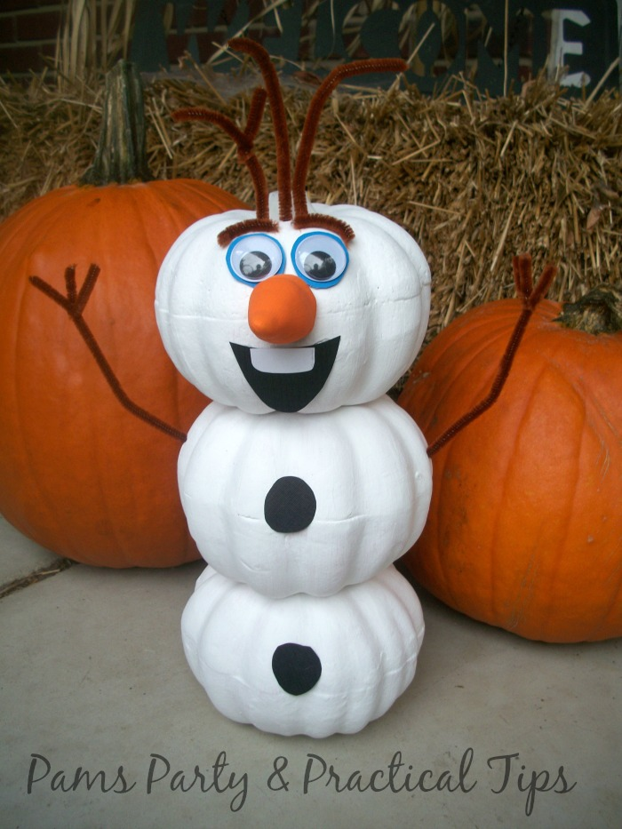 How to make an Olaf Pumpkin