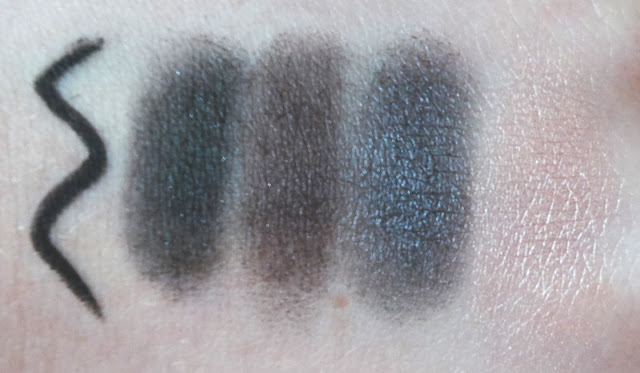 TOPSHOP Beauty Christmas Gift Sets 2013 Smokey Eye Kit Eyeshadow palette swatch