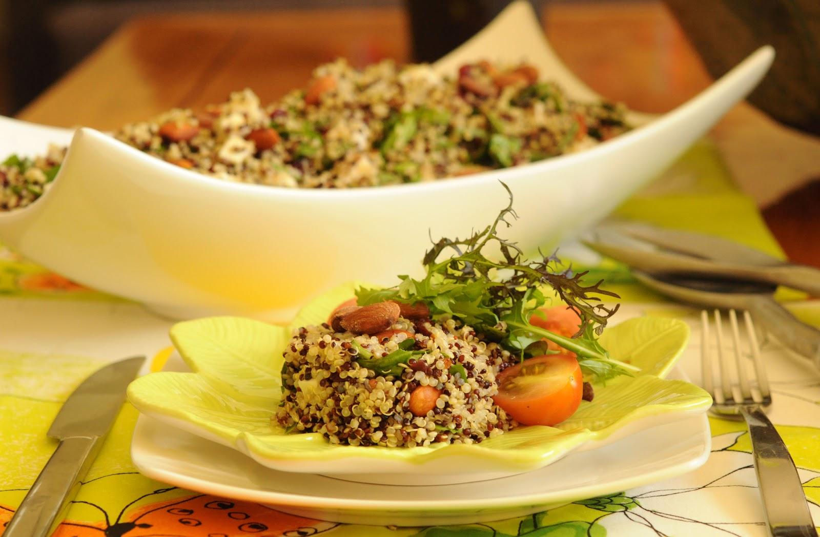 Ensalada de qu noa mundo de dulcinea for Cocinar quinoa negra