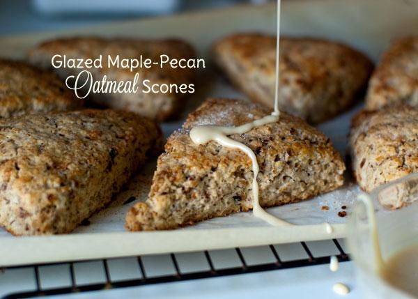 Wee Kitchen: Glazed Maple-Pecan Oatmeal Scones