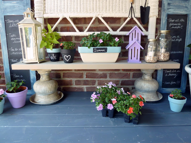 summer list potting bench