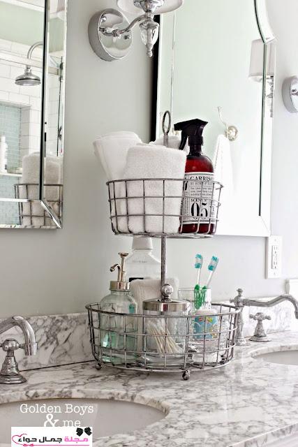 بالصور أفكار أنيقة لترتيب وتنظيم الحمام organaized bathroom ideas