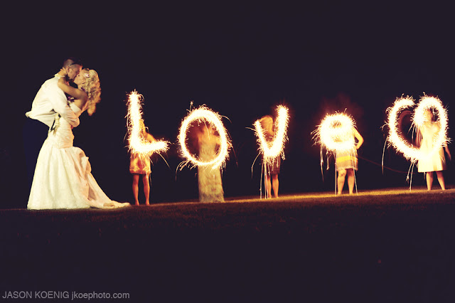 Wedding Sparklers Love