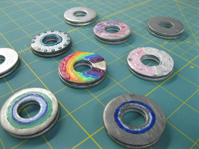 pattern weights made from washers