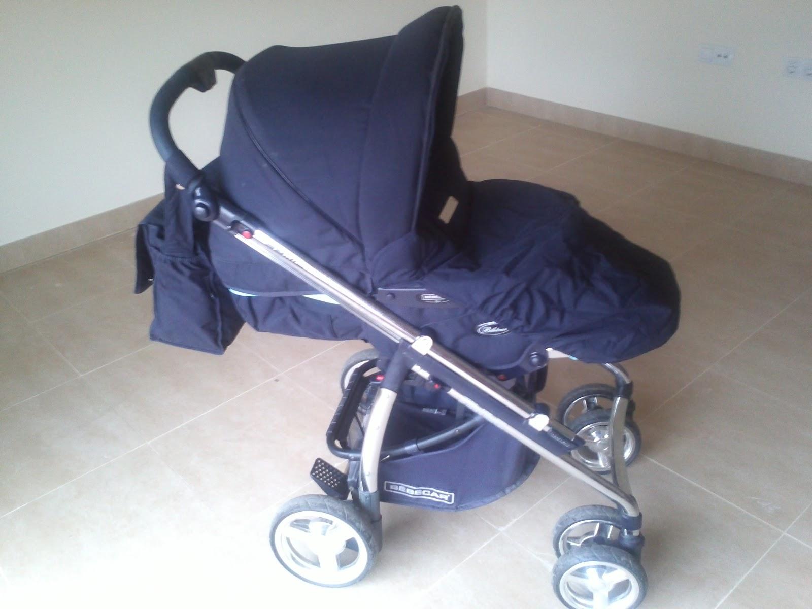 Segunda mano como nuevo silla de paseo bebecar modelo prime color azul marino impermeable con - Sillas de bebe de segunda mano ...