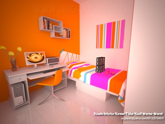 desain interior kamar minimalis ceria