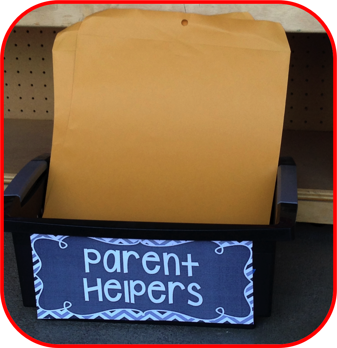 parent volunteers, volunteer box, parent helper box