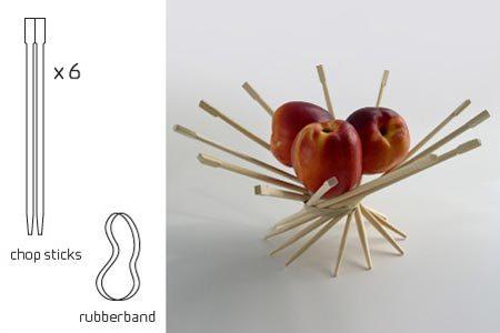 Cómo hacer un frutero con palillos chinos en Recicla Inventa