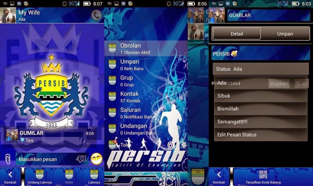 BBM Modifikasi versi Persib Bandung terbaru | Bobotoh Wajib Download!