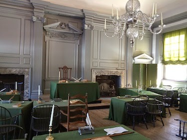 Chuck and Lori's Travel Blog - Continental Congress Meeting Room