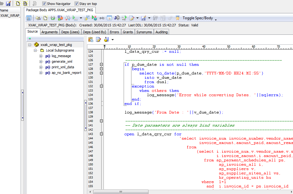 Compile body oracle
