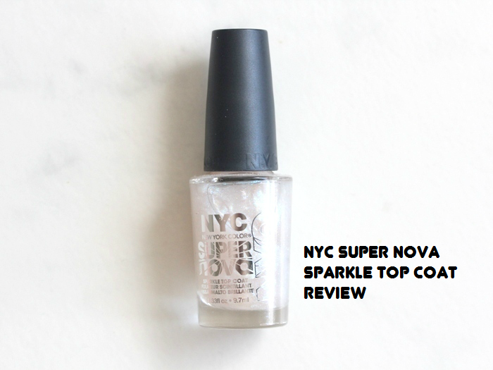 NYC Super Nova Sparkle Top Coat review