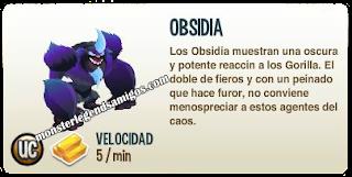 imagen de la decripcion del monstruo obsidia