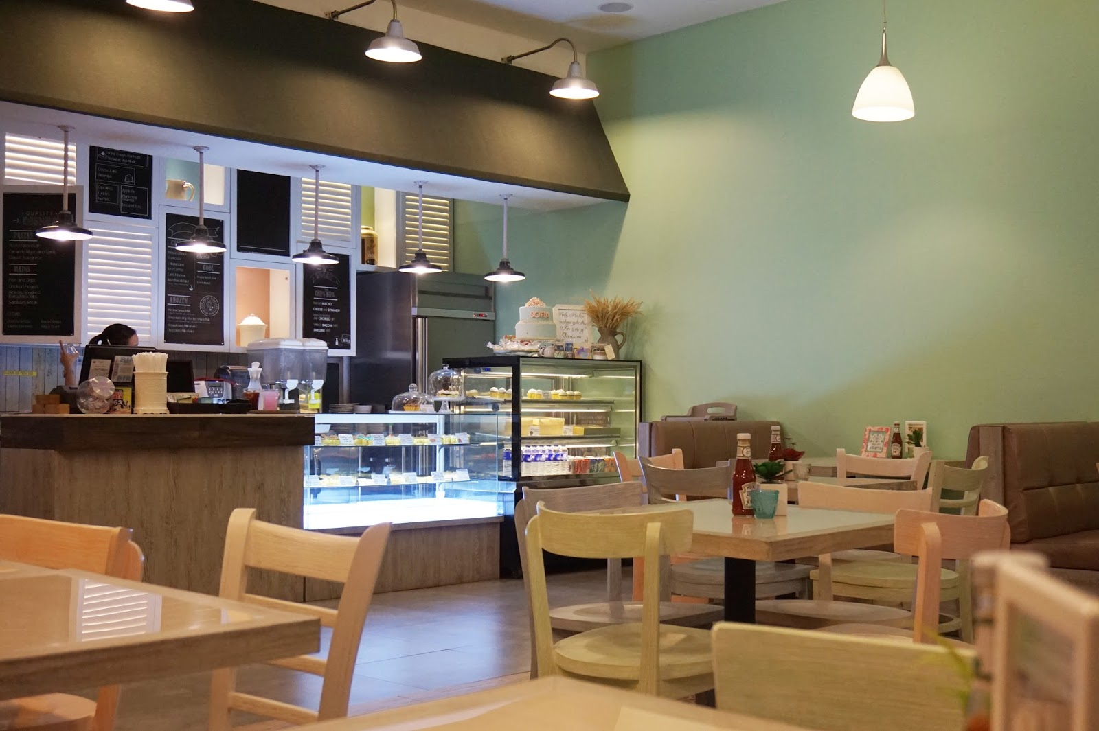 pretty interiors of my buttercup bakery and cafe