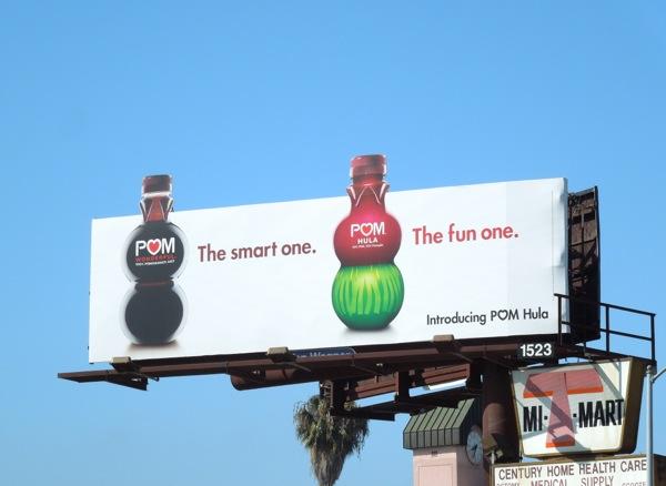 Pom Hula fun one billboard