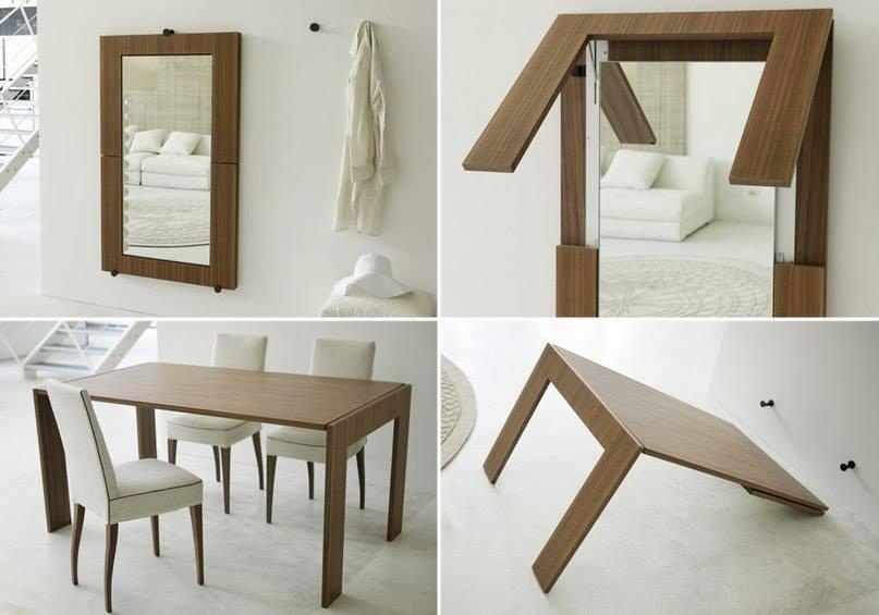 El detalle que hace la diferencia espacios peque for Mesas para apartamentos pequenos