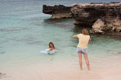 Trash the dress photography shoot at Smith Cove, Grand Cayman