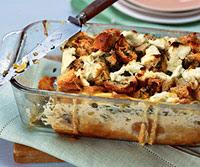 Asparagus-Mushroom Bread Pudding
