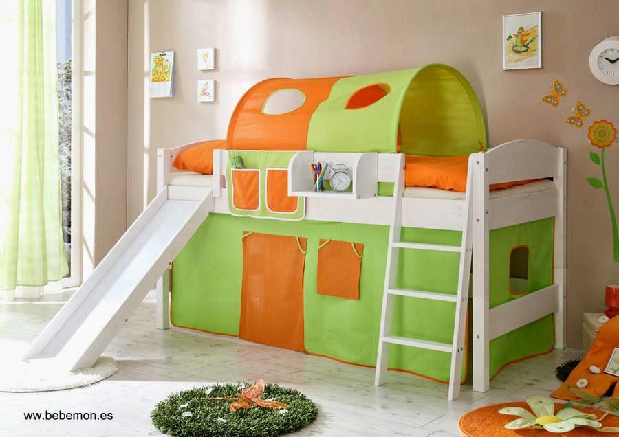 camas infantiles modernas con juegos