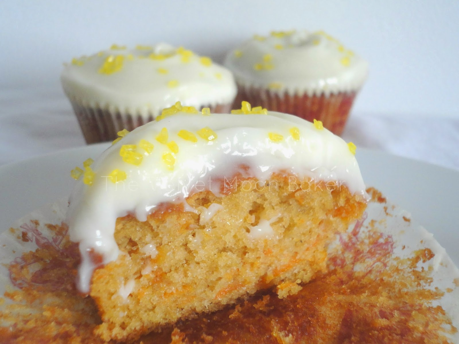 carrot cake cupcakes with orange mascarpone frosting