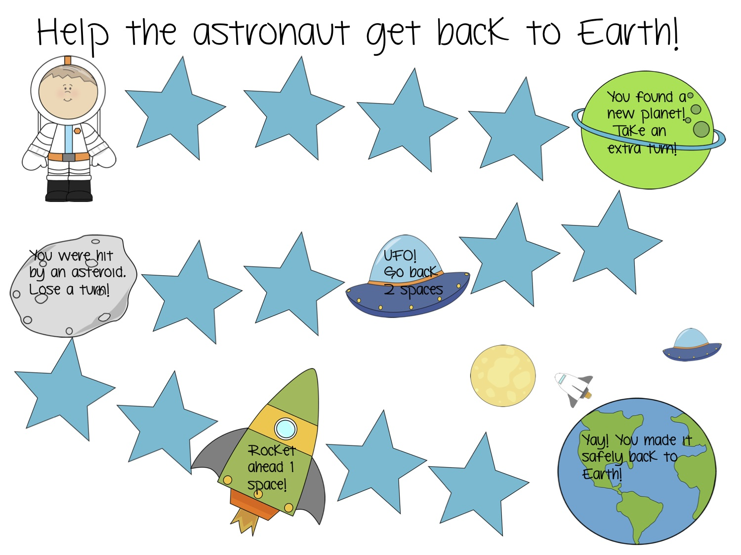 outer space themed articulation worksheets