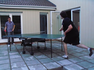 A shell-shocked Richard attempts to score a point against the merciless Seve
