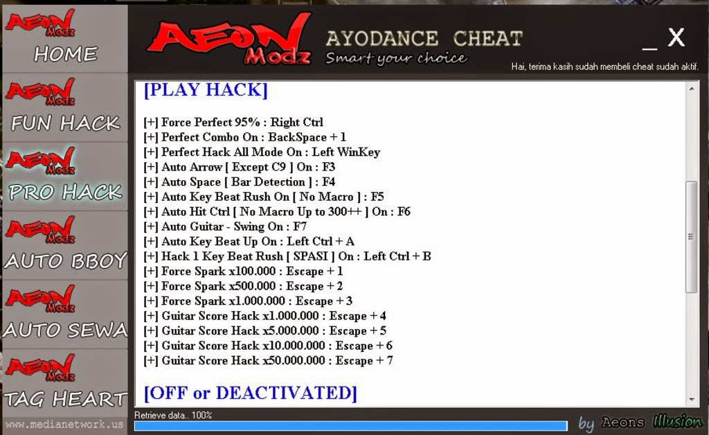Cheat AyoDance Auto Login + PRO Hack full v.6111