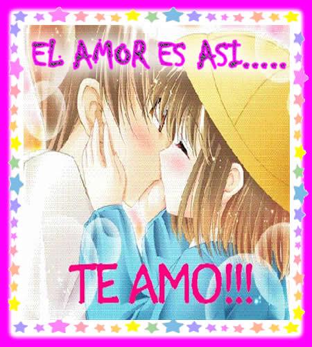 besos enamorados