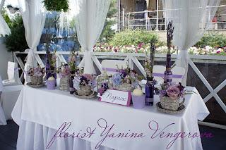 флористика, декор столов